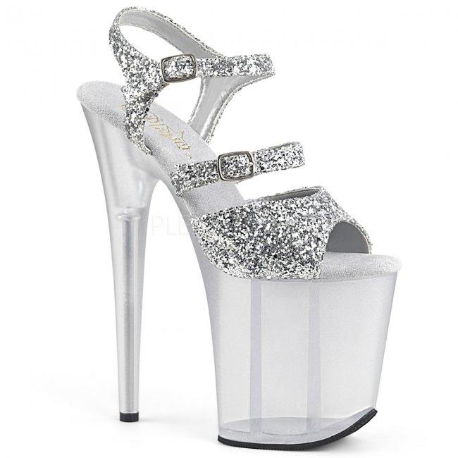 stříbrné boty na extra vysokém podpatku Flamingo-874-sg - Velikost 40