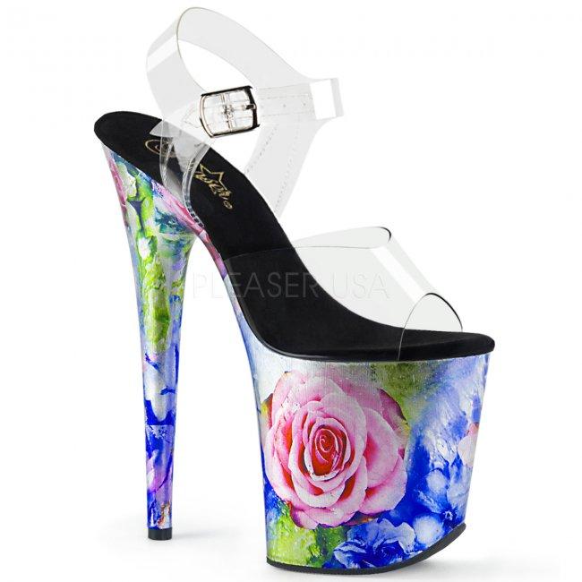 extra vysoké dámské boty na platformě Flamingo-808mrp-cmmc - Velikost 36