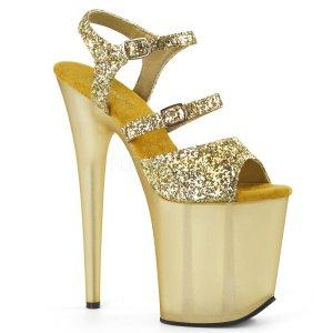 zlaté boty na extra vysokém podpatku Flamingo-874-gg