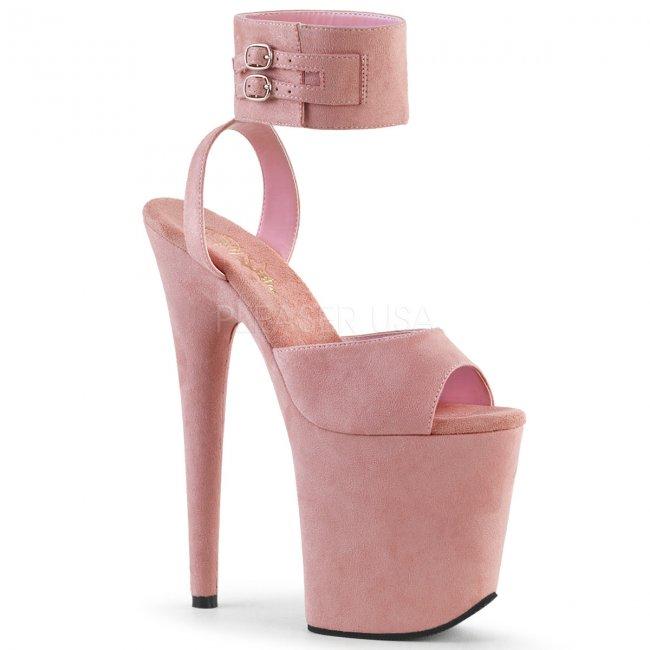 růžové sandálky na extra vysoké platformě Flamingo-891-pnmf - Velikost 35