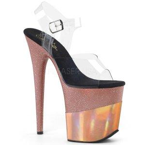 extra vysoké dámské sandály Flamingo-808-2hgm-crogld