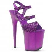 fialové boty na extra vysokém podpatku Flamingo-874-ppg