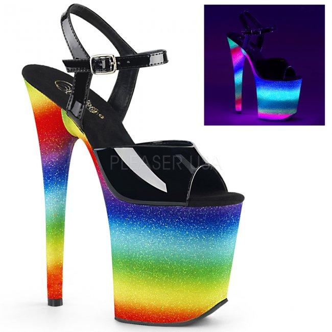 extra vysoké dámské UV sandály Flamingo-809wr-rbowg - Velikost 38