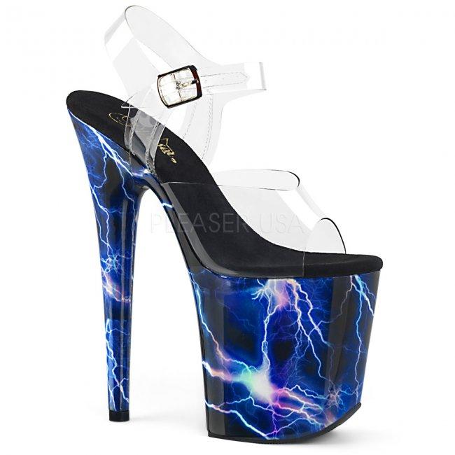 extra vysoké sandály s hologramy Flamingo-808storm-cbluhg - Velikost 35