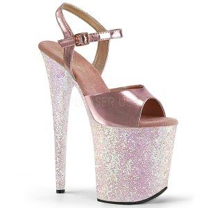 dámské boty na extra vysoké platformě s glitry Flamingo-809lg-rogpuopg