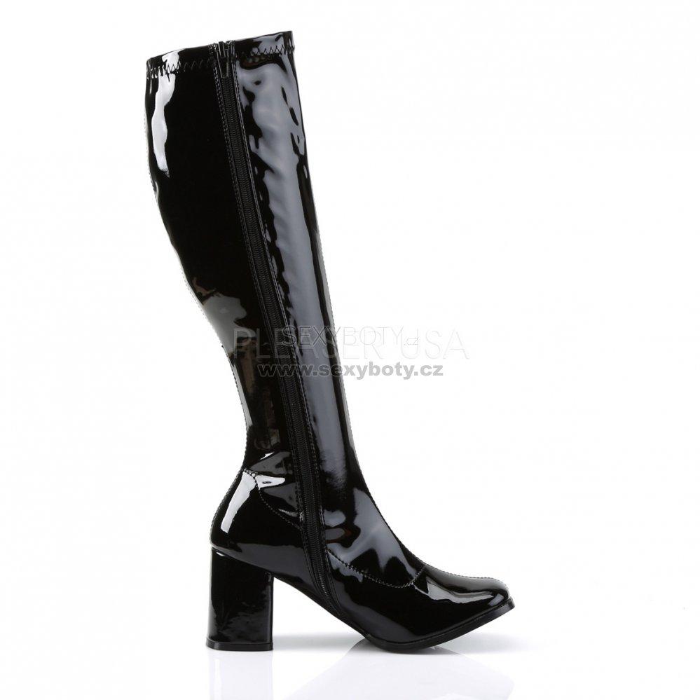 černé latexové kozačky Gogo-300Blk - Velikost 45   SEXYBOTY.cz 26f64049c8