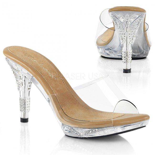 dámské pantoflíčky s kamínky Iris-401-ctc - Velikost 37
