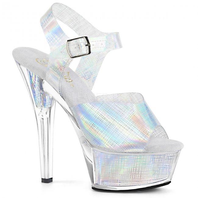 dámské sandálky s hologramy Kiss-208n-crhm-shg - Velikost 43