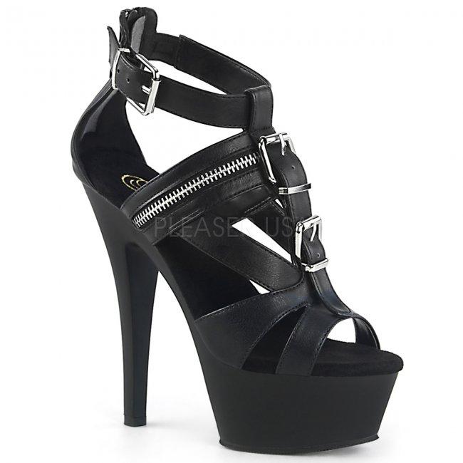 dámské černé sandálky Kiss-251-bpu - Velikost 36