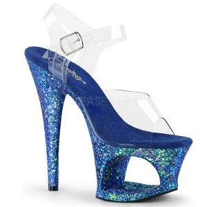 vysoké modré sandále s platformou Moon-708lg-cblug