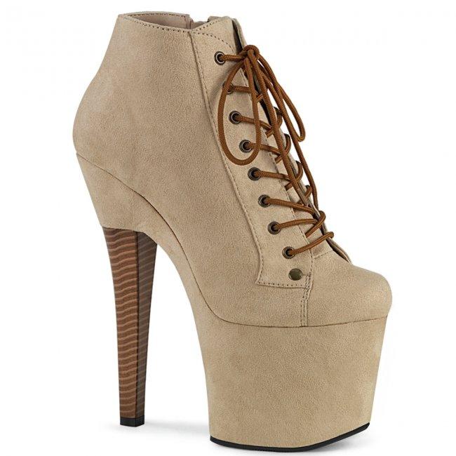 béžové dámské kotníkové boty Radiant-1005-befs - Velikost 36