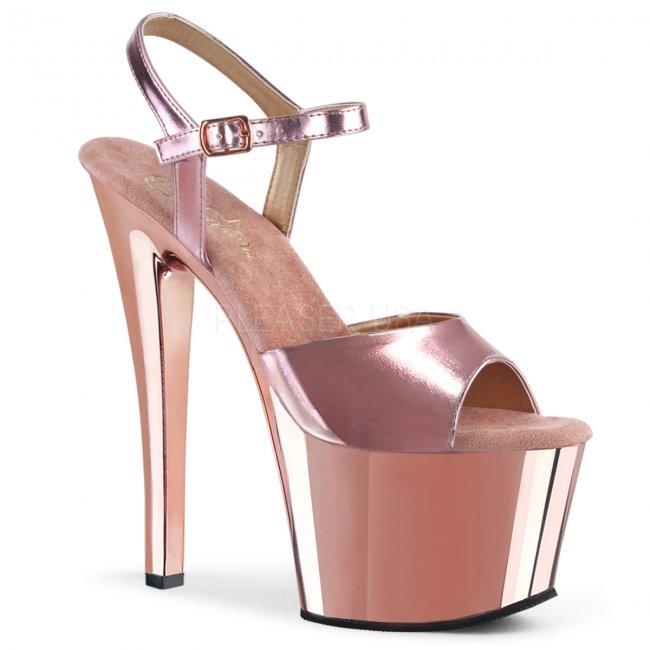 boty na vysokém podpatku a platformě Sky-309-rogldpu - Velikost 42