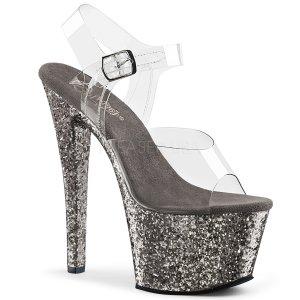 vysoké dámské sandály glitry Sky-308lg-cpwg