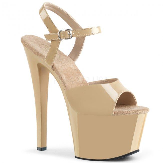 boty na vysokém podpatku a platformě Sky-309-cr - Velikost 35