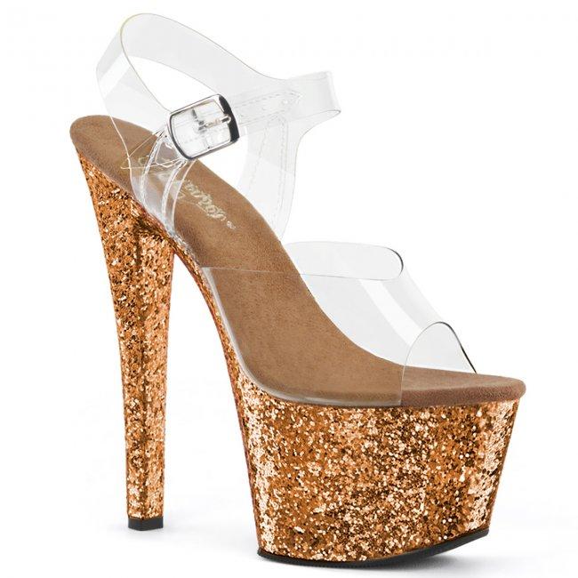 vysoké dámské sandály glitry Sky-308lg-cbzg - Velikost 36
