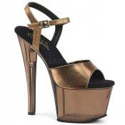 vysoké bronzové dámské sandálky Sky-309mt-bzmpu