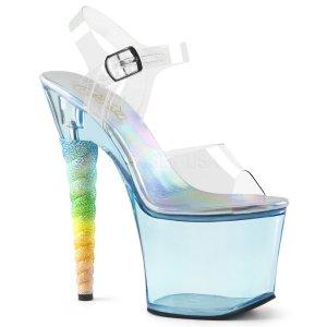 dámské vysoké sandálky s glitry Unicorn-708t-cbu