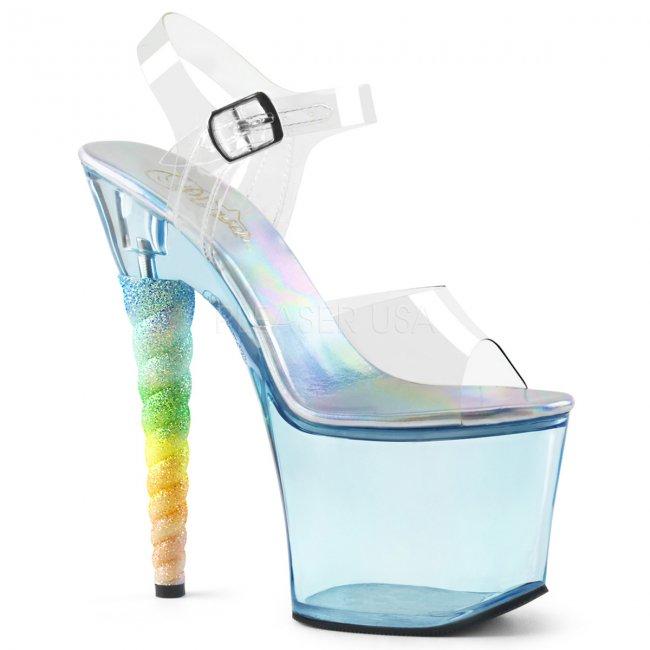 dámské vysoké sandálky s glitry Unicorn-708t-cbu - Velikost 40