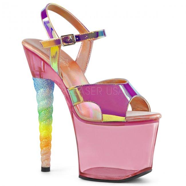 dámské vysoké sandálky s glitry Unicorn-711t-pntpubgumpn - Velikost 41