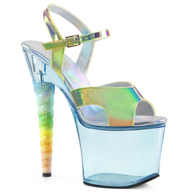 dámské vysoké sandálky s glitry Unicorn-711t-grntpubb - Velikost 37